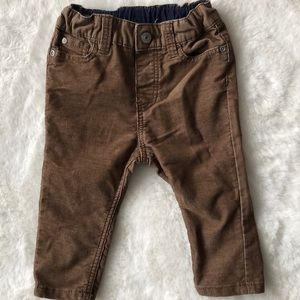 H&M soft corduroy brown pants 6-9 months